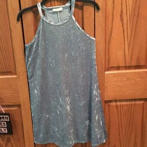 Light blue velvet dress